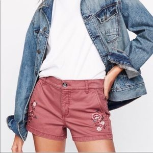 Express Mauve Embroidered Short